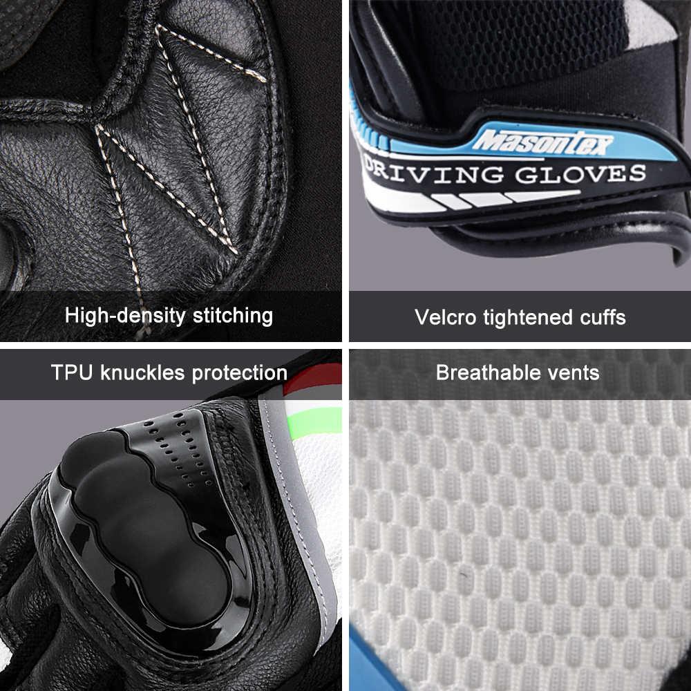 TPU Guanti Da Moto Traspirante Antivento Primavera Guanti Moto Guanti Dello Schermo di Tocco di Gant Moto Moto Guanti Da Equitazione