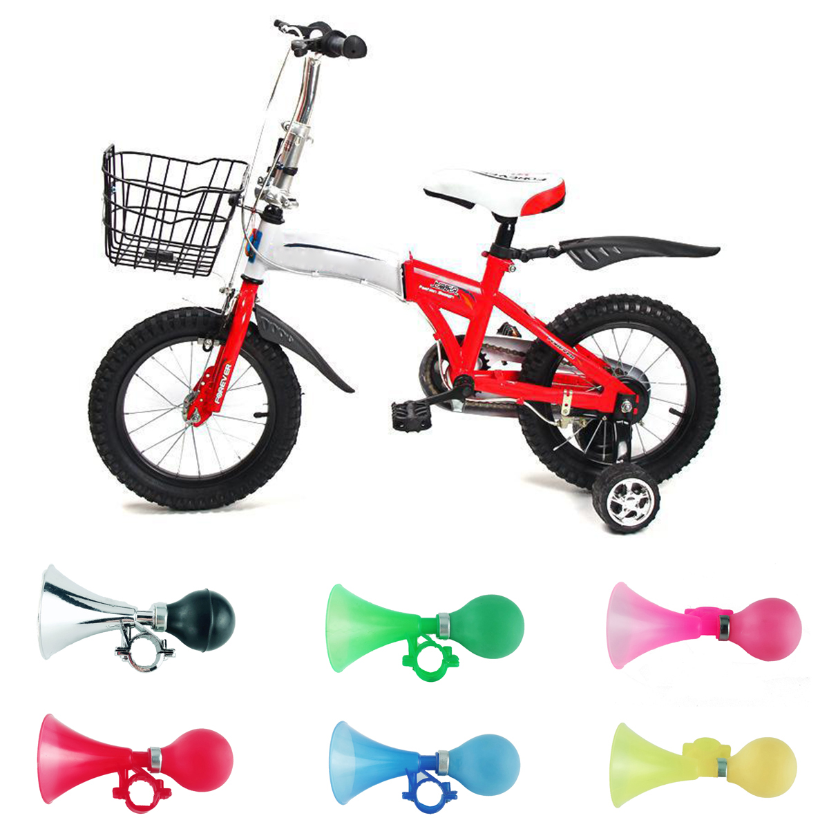 Kids Bike Alarm Bell Silicone Hooter Child Bicycle Squeeze Horn Toy Hoo L/_D SK