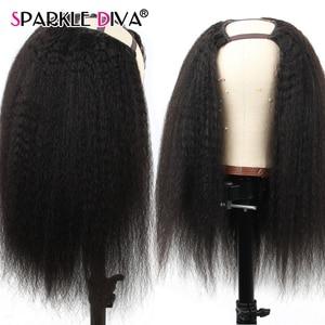 Image 1 - 360 레이스 정면 가발 변태 스트레이트 레이스가 발 브라질 인간의 머리가 발 150% 밀도 레미 레이스 프런트 인간의 머리가 발 여성을위한