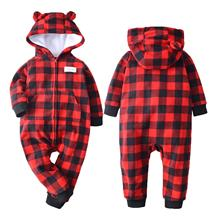 Warm Infant Baby Rompers 2019 Fall Winter Cartoon Hooded Fle