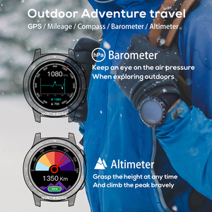 Image 3 - Northedge GPS Smart Watch Running Sport GPS Watch Bluetooth Phone Call Smartphone Waterproof Heart Rate Compass Altitude Clock