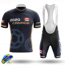 Canada Cycling Clothing 2020 Custom Ropa Ciclismo Hombre Breathable Short Sleeve Cycling Set Mtb Bike Uniforme Maillot Ciclismo(China)