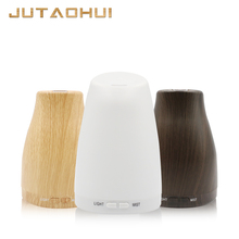 120ml Aroma Essential Oil Diffuser Ultrasonic Air Humidifier with Wood Grain 7 Color Changing LED Lights for Office Home все цены