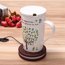 Коврик, чашка, подогреватель молока, кофейная кружка, подставка для напитков, чай, изоляция, USB Кружка, грелка, печенье, дизайн, чашка для автомобиля