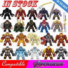 Para Legoing 4 Vingadores Marvel Super Hero Thanos Endgame guerra Homem De Ferro Capitão América Aranha Building Blocks Toy Figuras Legoings(China)