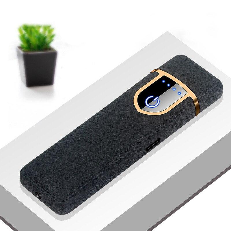 USB зарядка сенсорный переключатель Двусторонняя Зажигалка Ветрозащитная беспламенная электронная сигарета без газа электрические зажига...