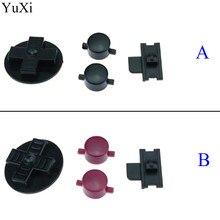 YuXi-Botones de reemplazo negro rojo para Gameboy clásico de GB, llaveros para GB DMG DIY para Gameboy A B, botones d-pad