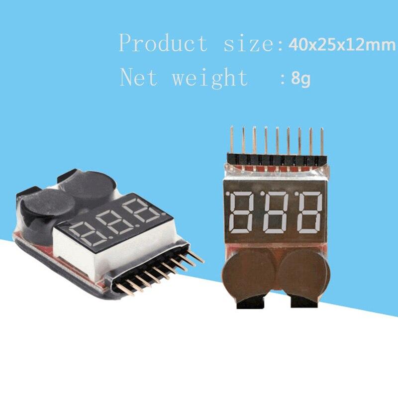 1-8S LED Lipo Battery Monitor Voltage Indicator Checker Tester Low Voltage Buzzer Alarm For Lipo Li-ion LiMn Li-Fe Battery GV99