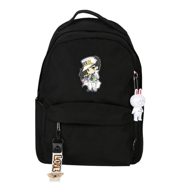 JoJo's Bizarre Adventure Women Backpack Small Travel Bagpack Joseph Joestar Dio Bookbag Cartoon School Bags Girls Shoulder Bags 2