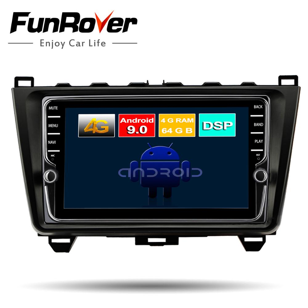 Funrover Octa 8 core android 9.0 2 din car dvd player for <font><b>MAZDA</b></font> <font><b>6</b></font> 2008-2015 mazda6 radio <font><b>gps</b></font> stereo DSP 4G+64G Split <font><b>screen</b></font> rds image