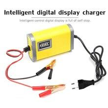 12v 2a carregador inteligente display lcd, para moto, bateria de carro, adaptador de carregamento automático, chumbo ácido, gel agm 12v ac110v 220v