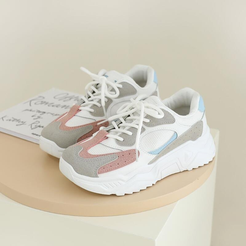 2020 Fashion Women Sneakers Autumn Spring Casual Shoes Platform Vulcanized Shoes Women White Black Pink Wedges Sneakers