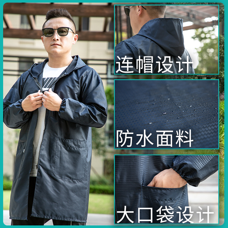 Adult Work Clothes New Style Men's Overclothes Waterproof Oil Resistant Protective Clothing Korean Style Outer Wear Thin Apron K