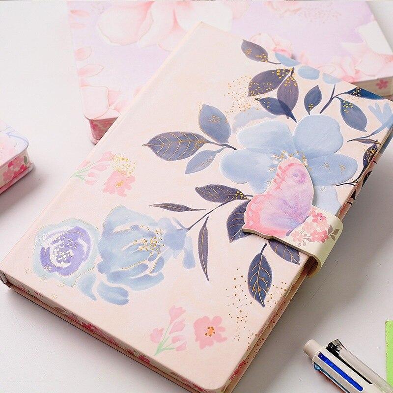 Best Promo B829 Flowery Hard Cover Diary Girls Women Journal