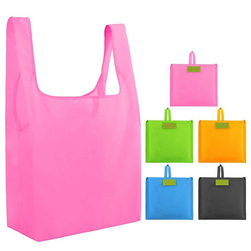Reusable Shopping Bag Foldable Eco-friendly Shopping Bag Tote Handbags Convenient Large-capacity Reusable Canvas Storage Bags