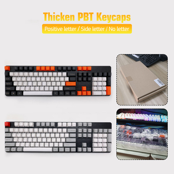 104 Keys Keycap Set OEM Profile PBT Thicken Keycaps For Mechanical Gaming Keyboard Keycap For PC Computer mp 104 keys thick pbt purple gradient double shot backlight keycap oem profile for wired usb mechanical keyboard