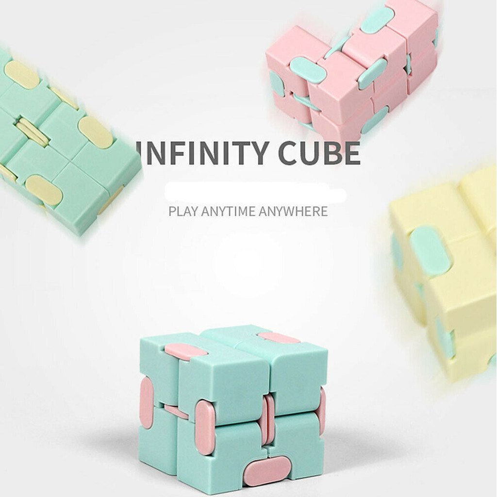 Toy Fidget Puzzle-Stress Decompress Fingertips Cubo Magic Square Reliever Lightweight img3