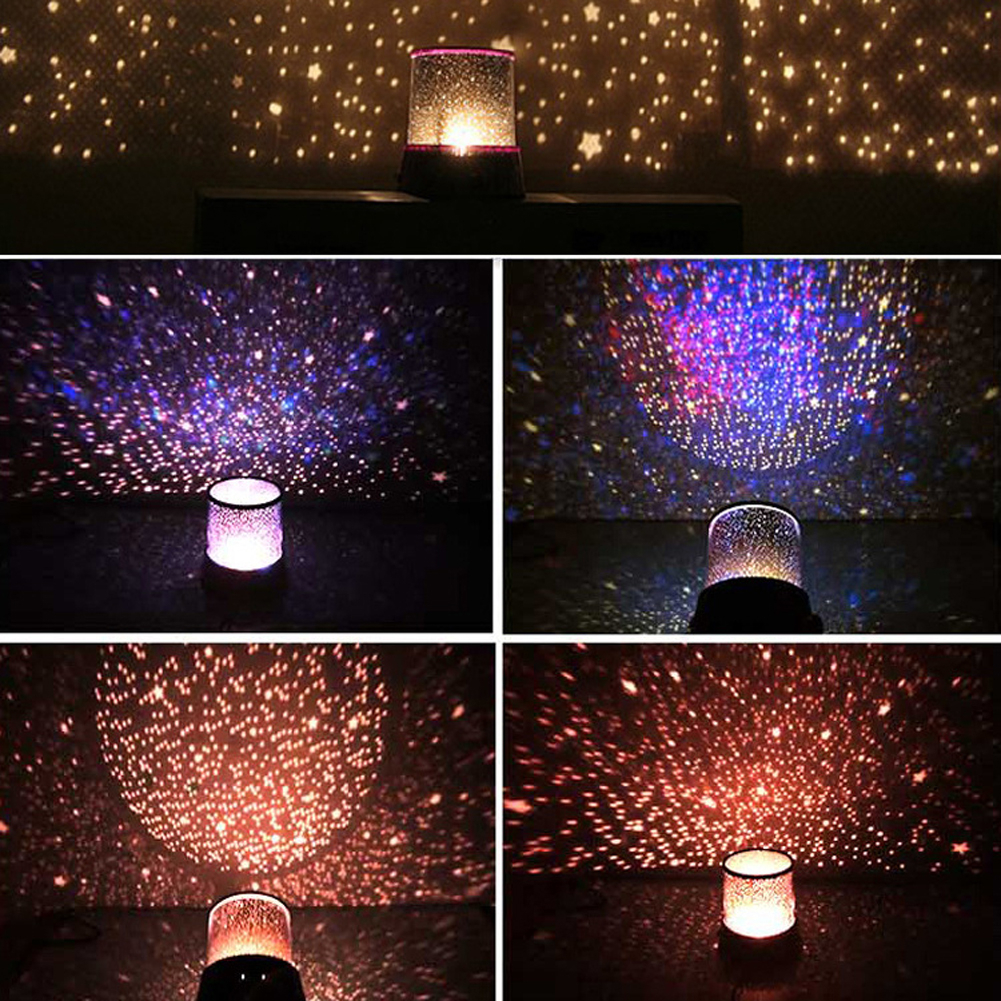 LED Star Night Light Projector Moon Starry Sky Master USB Charging Romantic Colorful Projection Lamp Children Kids Home Decor
