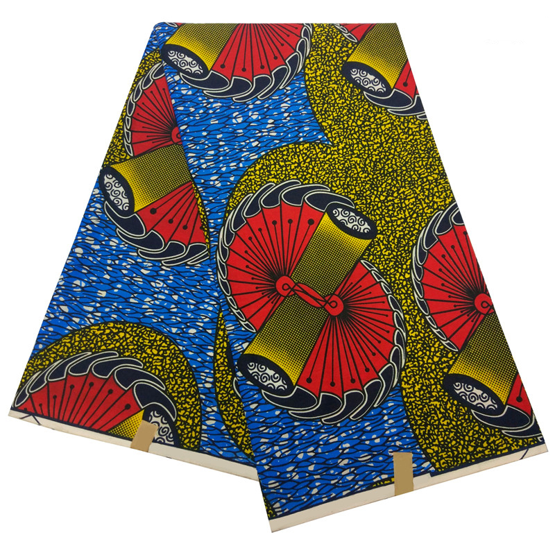 2019 Style Ankara Printed Wax Veritable New Dutch Wax Fabric Sewing Material For Party Dress Top Quality