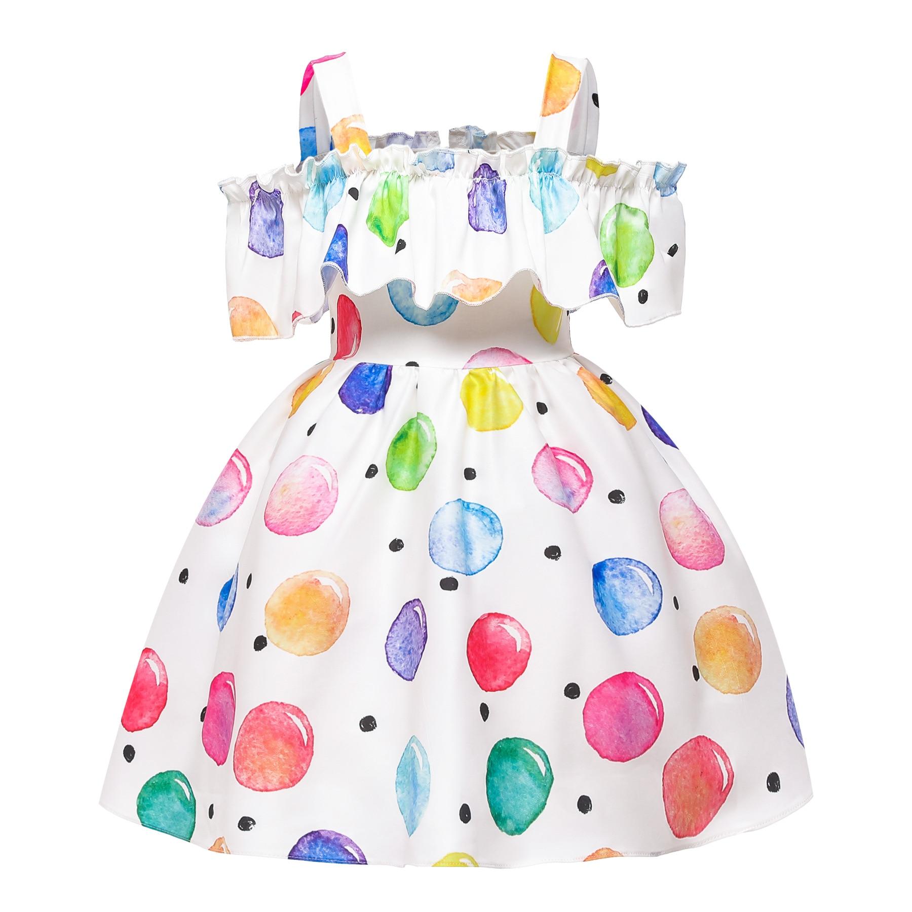Kids Summer Dress Clothes Robe Kids Dresses For Girls Ropa Prinsessenjurken Meisjes Dress For Girls Jurk Costume Kinder Kleider