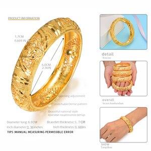 Image 4 - 莞島4個ドバイゴールドカラージュエリー女の子のためのバングルブレスレットアラブ/エチオピアジュエリーブライダル腕輪ラマダンジュエリーギフト
