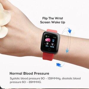 Image 2 - Rovtop Digitale Horloge Smart Android Polsband Sport Fitness Bloeddruk Hartslag Call Bericht Herinnering Stappenteller 116 Plus