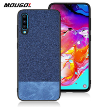 For Samsung Galaxy A70 Phone Case Shockproof Back Cover Cloth Fabric Silicone Soft Edge Protect Fabric For Samsung Galaxy A70 for samsung galaxy a70 case luxury robot hard coque back phone case for samsung galaxy a70 play back cover for galaxy a70 case