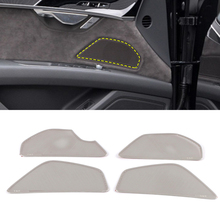 For Audi A8 D5 2018 2019 Car Stainless Door Gate Loudspeaker Sound Pad