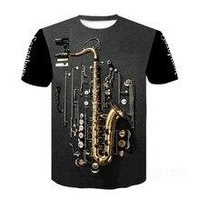 2020 новинка мужские 3d гитара с принтом мода короткие рукава футболка повседневные короткие рукав футболка музыкальный футболка женский психоделический одежда
