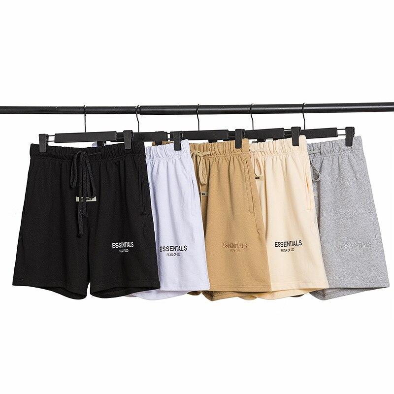 Шорты Fog Essentials 100% 1:1, спортивные шорты, уличные Светоотражающие Короткие штаны с надписью из овчины, хлопковые повседневные штаны с капюшоно...