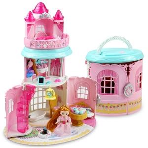 Image 2 - Bebek evi el çanta aksesuarları sevimli mobilya minyatür Dollhouse doğum günü hediyesi ev modeli oyuncak ev oyuncak bebekler çocuklar için