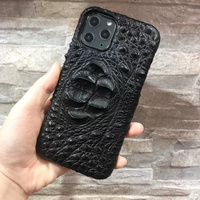 Luxury Original Genuine Crocodile Leather Case For Apple iPhone 11/ Pro/ Max Shockproof Protection Phone Case Back Cover Shell