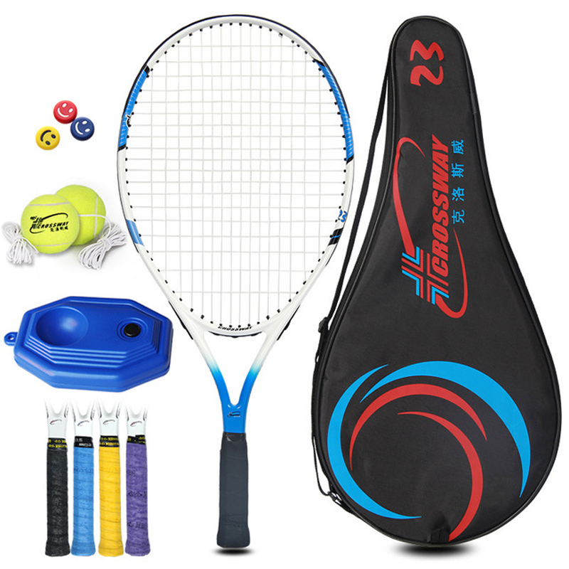 1Set Tennis Racket Ball Aluminium Alloy With Rope  19/21/23/25 Inch With Carry Bag For Children Teenager Training Sport Boy Girl