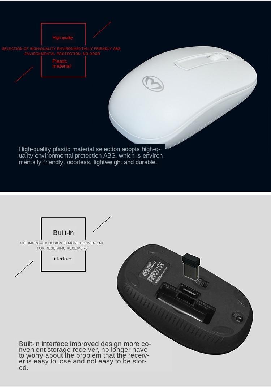 Беспроводная мышь 24g 1200dpi эргономичная оптическая портативная