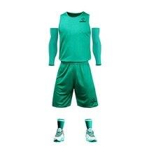 Молодежная баскетбольная форма, костюм для игры в баскетбол, дышащая и быстросохнущая одежда с мячом на заказ, Двусторонняя Футболка