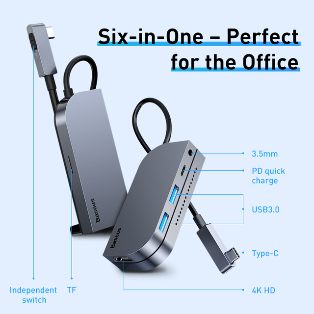 Business Travel Portable device USB HUB Adapter