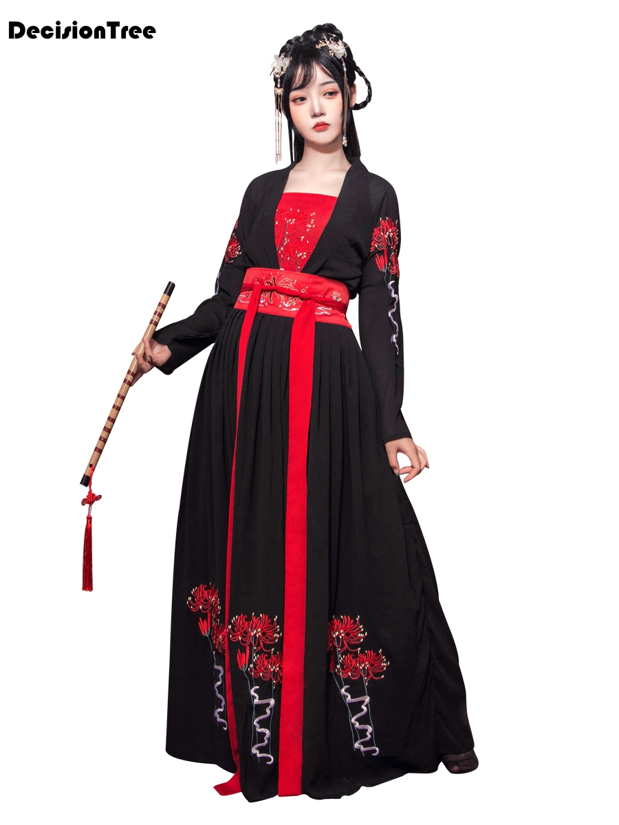 2020 Oriental Woman Chinese Traditional Costumes Hanfu Retro Fairy Dance Performance Dress Ancient Women Clothes Qing Dynasty