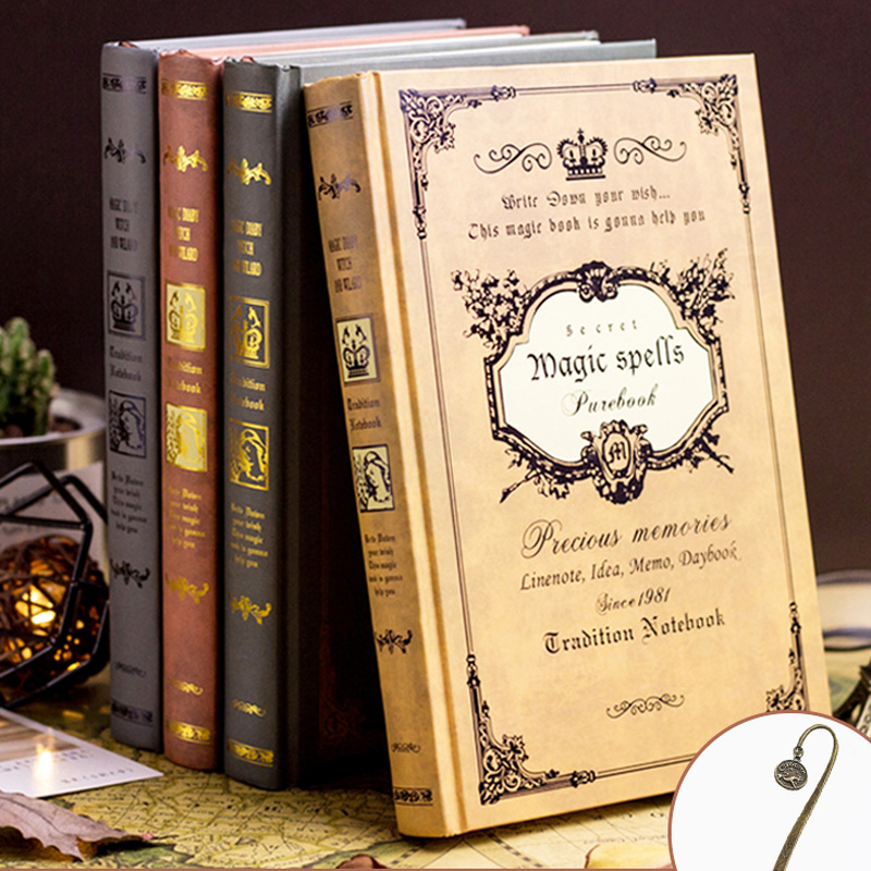 European Retro Thick Magic Notebook Creative A5 Thick Diary Book Classical Gifts For Students