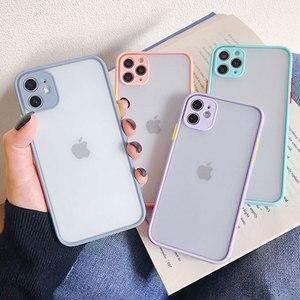 Противоударный силиконовый защитный чехол для телефона для iPhone Xr Xs Max X Xs SE 2020 10 11 Pro 8 7 6s Plus, яркий цвет, задняя крышка, подарок