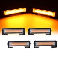 Rejilla de luz LED estroboscópica COB para coche, luces de alerta de emergencia, rojo, azul, amarillo, blanco, 12V, 24V, 40W, 80W
