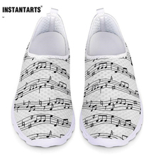 INSTANTARTS Flats Women Shoes Beating Music Notes Ladies Comfort Sneakers Woman Summer Mesh Slip On Shoes Footwear Zapatos Mujer dostoevsky f winter notes on summer impressions
