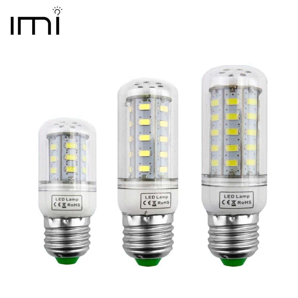 LED Bulb E27 Lamp E14 Light Lampada SMD5730 Corn Spotlight Bombillas 220V Chandelier Candle CFL Ampoule For Home Decoration