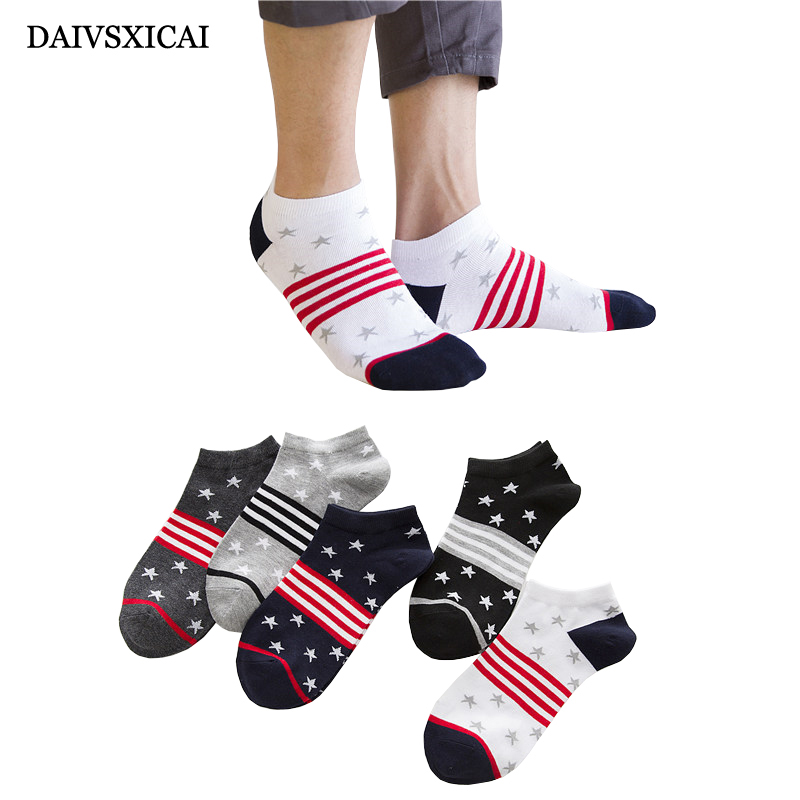 5Pairs/lot=10pieces Summer Socks Fashion Male Boat Printing Cartoon Man Invisible Socks Casual Short Socks Men