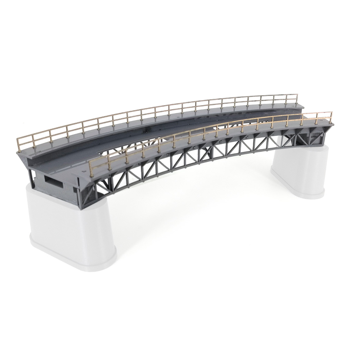 1:87 HO Scale Train Railway Scene Decoration Q4 R1 Curved Railway Bridge Model Without Pier For Sand Table