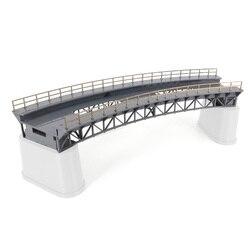 1: 87 escala ho trem ferroviário cena decoração q4 r1 curva modelo de ponte ferroviária sem pier para mesa de areia