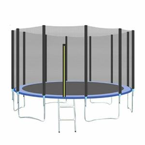 Trampoline Enclosure Safety Net Replacement Safety Enclosure Net Indoor Outdoor Safe Netting for 6 Poles or 12 Poles