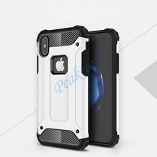 Strong Hybrid Tough Shockproof Armor Phone Case for iPhone 6 S 6S Plus X XS Max XR 5 5S SE 7Plus 8Plus Hard Rugged Impact Cover cheap Peaktop Fitted Case origin accessory housing casing cell capinha etui coque women girl men Apple iPhones iPhone 5 iPhone 6 Plus