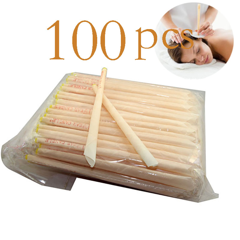 100pcs Ear Cleaner Ear Candle Beeswax Good Product Hopi Ear Wax Indian Coning Fragrance Cleaning Ear Candle Wax Removal Tool