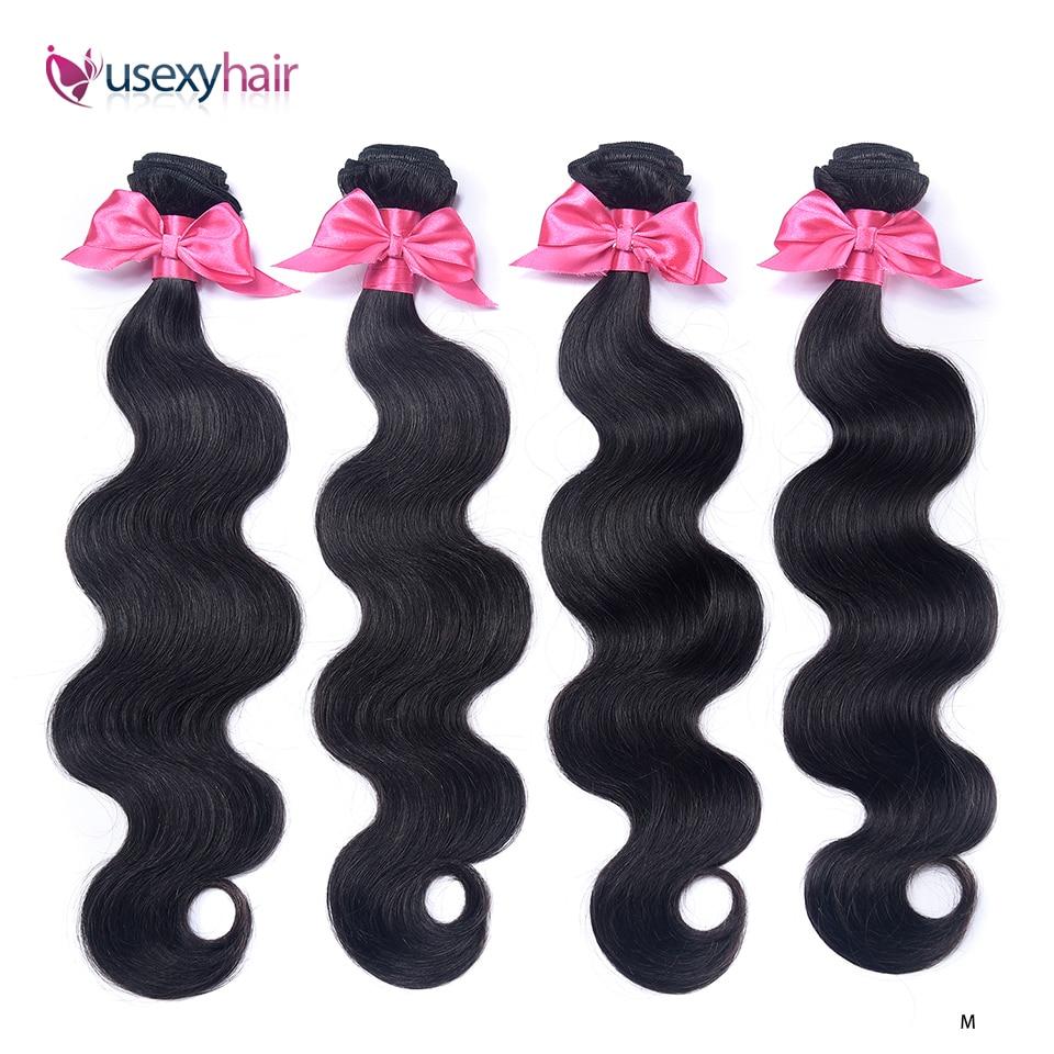 Brazilian Hair Weave Bundles Body Wave Human Hair 1/3/4 Bundles Natural Color Remy Hair Extensions