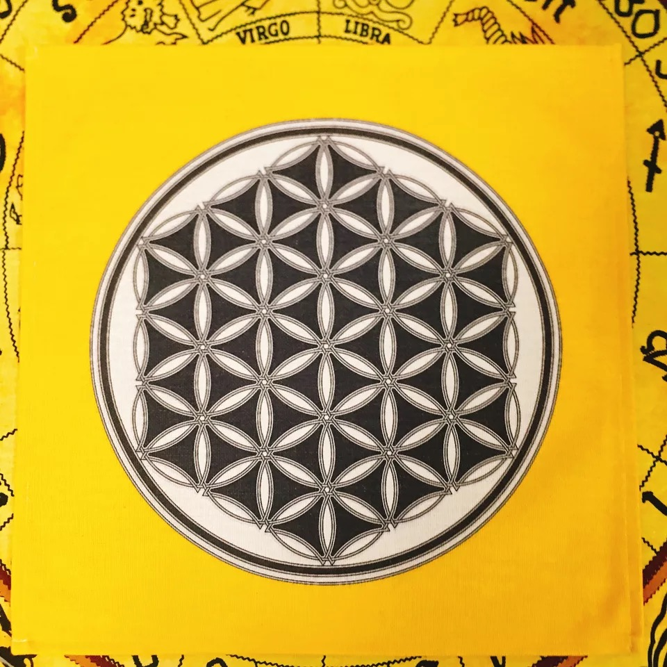 Flor de Vida Tarot Adivinhação Energia Espiritual Cerimônia de Meditação